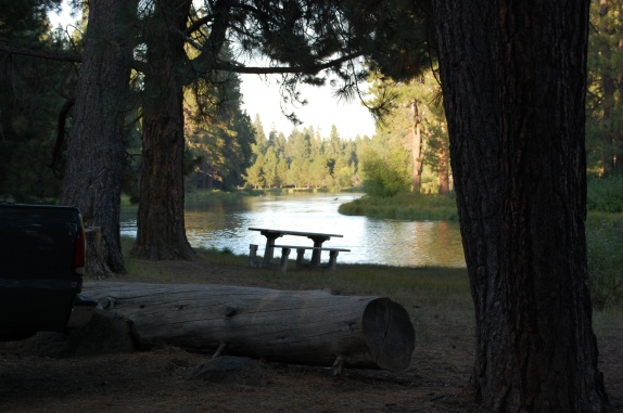 Outside of Bend OR, Our evening fishing spot