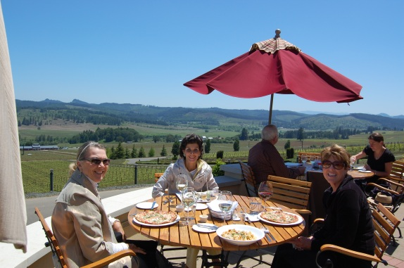 Lunch with friends at King Estates Winery