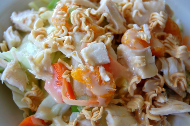 Chinese Chicken Salad with Dressing