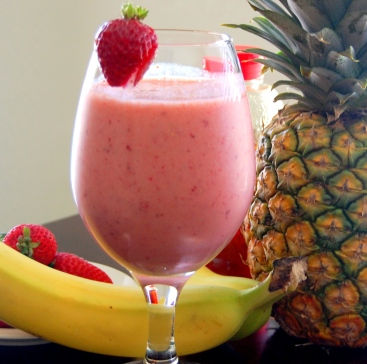 Strawberry Banana Pineapple Smoothie