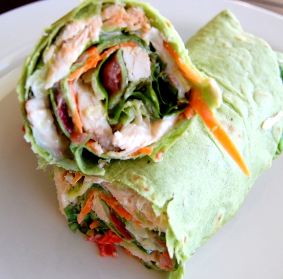 Chicken, Bacon with Ranch Dressing Wrap